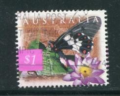 AUSTRALIE- Y&T N°1590- Oblitéré (papillons) - 1990-99 Elizabeth II