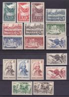 Guyane Série N°201 à 217 Neuf * (Sauf 201 Oblit)- Voir Verso & Descriptif - Neufs