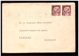 España. Sobre Sellado. Sello. Matasellos 1962. Cadiz. Tanger.  Publicidad. - 1931-Hoy: 2ª República - ... Juan Carlos I