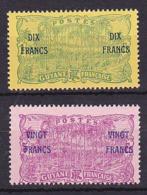 Guyane N° 95 & 96 Neuf * - Voir Verso & Descriptif - Neufs