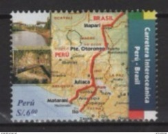 Peru (2006) Yv. 1545  /  Architecture - Bridge - Pont - Map - Carte - Ponti
