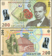 Romania 200 Lei. 2007 Polymer Unc. Banknote Cat# P.122b - Romania