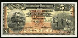 * Mexico 5 Pesos 1914 ! UNC ! - Mexico