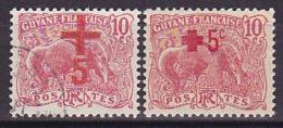 Guyane N° 73 Oblit. & 74 Neuf * - Voir Verso & Descriptif - Guyane Française (1886-1949)