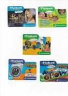 Lot De 5 Tickets De Téléphone France Telecom Buffy Vélo - France