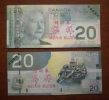 (Replica)China BOC Bank Training/test Banknote,Canada Dollars C-1 Series $20 Note (light Color)specimen Overprint - Canada