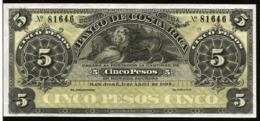 * Costa Rica 5 Pesos 1899 ! UNC ! - Costa Rica