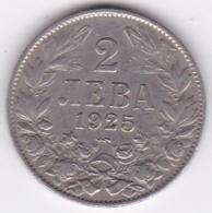 Bulgarie . 2 Leva 1925 Poissy, KM# 38 - Bulgarije