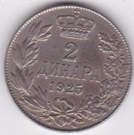 Yougoslavie, 2 Dinara 1925 Poissy, Alexander I, KM# 6 - Joegoslavië