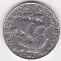 Portugal, 5 Escudos 1948, En Argent, KM# 581 - Portugal