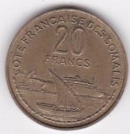 CÔTE FRANCAISE DES SOMALIS. UNION FRANCAISE . 20 FRANCS 1952 - Djibouti