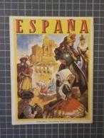 Cx 12) Turismo España Vintage Brochura Folheto Spain Travel Destination 16x12cm - Dépliants Turistici