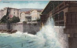 AK - ABBAZIA (Opatija) - Wellen Preschen An Die Slatina-Promenade 1909 - Kroatien