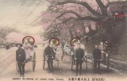 AK - TOKYO - Damen Bei Einer Rikschafahrt Im Uyeno Park Bei Der Kirschblüte 1920 - Tokyo