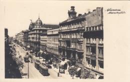 AK - WARSCHAU - Blick In Die Marschallstrasse (Ulica Marszałkowska) Mit Strassenbahnen 1938 - Polen