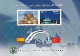 1 HB ESPAÑA Y 1 HB TURQUIA.-ALIANZA DE CIVILIZACIONES. EMISIÓN CONJUNTA ESPAÑA-TURQUIA. NUEVAS. (001) - Otros - Europa