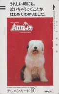 TC Ancienne Japon / 110-4042 - Film Cinéma MUSICAL - ANNIE  Animal CHIEN BOBTAIL DOG Japan Movie Front Bar Pc / A  11739 - Cinema