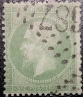 FRANCE Y&T N°20e Napoléon 5c Vert Clair. Oblitéré Losange G.C. - 1862 Napoleon III