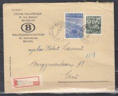 Reccomandée Brief Van Bruxelles A21A Naar Gent - Service
