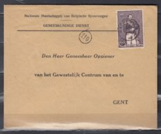 Brief Van Waereghem Naar Gent Nationale Maatschappij Van Belgische Spoorwegen - Belgique