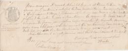 1877 / Traite Reconnaissance De Dette / Drouot Alexis à Grignoncourt 88 / Devant Juge Paix Montbozon 70 - France