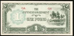 * Oceania 1 Pound 1942 Japanese Occupation !  UNC ! Rare ! - Bankbiljetten