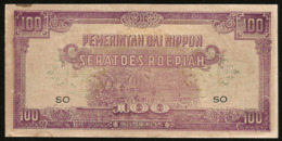 * Netherlands India 100  Roepiah  Rupees 1942 Japanese Occupation !  UNC ! - Banconote