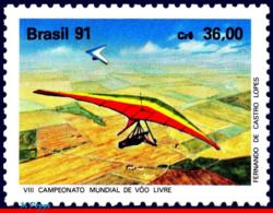 Ref. BR-2305 BRAZIL 1991 SPORTS, HANG GLIDING WORLD, CHAMPIONSHIPS, MI# 2403, MNH 1V Sc# 2305 - Trasporti
