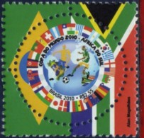 Ref. BR-3129 BRAZIL 2010 FOOTBALL SOCCER, WORLD CUP SOUTH AFRICA,, SPORTS, MNH 1V Sc# 3129 - Ungebraucht