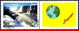 Ref. BR-3133-1 BRAZIL 2010 CITIES, FOZ DO IGUACU, WATERFALLS, , WORLD, PERSONALIZED MNH 1V Sc# 3133 - Brésil