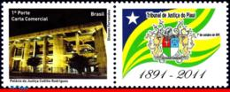 Ref. BR-3188 BRAZIL 2011 ARCHITECTURE, COURT OF JUSTICE OF PIAUI, , PERSONALIZED MNH 1V Sc# 3188 - Brazilië