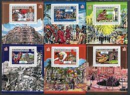 Barcelona 92. Madagascar 1987. Mi Blocks 66A-71A ** MNH. - Verano 1992: Barcelona