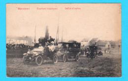 CPA WAREMME : Courses Hippiques - Défilé D'autos - Circulée - Imp. à Vap. Pineur Frères, Waremme - 2 Scans - Waremme