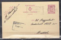 Postkaart Van Brugge 3 Naar Brussel Red De Noodlijnen Door Solidariteit - 1935-1949 Petit Sceau De L'Etat
