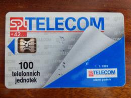 Télécarte De Tchécoslovaquie - SC5 ISO - C + 8 Numéros Rouges - TBE - Tchécoslovaquie