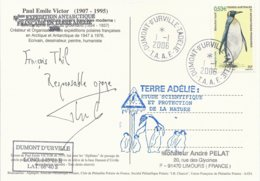 TAAF - Dumont D'Urville-T.Adélie: Carte Illustrée PE Victor Avec Timbre N°446 Manchot Royal - 01/01/2006 - Franse Zuidelijke En Antarctische Gebieden (TAAF)
