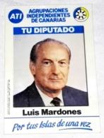 Ancien Autocollant - Propagande électoral, Luis Mardones, ATI, Votre Adjoint - Pegatinas