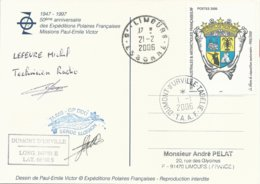 TAAF - Dumont D'Urville-T.Adélie: Carte Illustrée PE Victor Avec Timbre N°429 Blason Des TAAF - 01/01/2006 - Franse Zuidelijke En Antarctische Gebieden (TAAF)