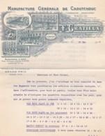 384886F. GRATIEUX, Manufacture De Caoutchouc, Facture + Lettre Commande Mars/mai 1917 - Frankrijk