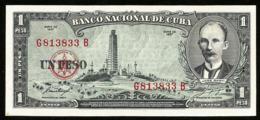 * Cuba 1 Peso 1957  ! UNC ! - Cuba