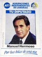 Ancien Autocollant - Propagande électorale, Manuel Hermoso, ATI, Votre Adjoint - Pegatinas