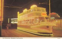 Postcard The Hovertram Blackpool Illuminations Advertising Shell Tram Interest My Ref  B13716 - Tramways