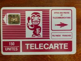 PF2C Polynésie Française - SC5an - 6mm - Tiki Fuchsia - TBE - 5PE - Französisch-Polynesien