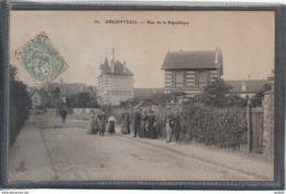 Carte Postale 95. Argenteuil  Rue De La République Très Beau Plan - Argenteuil