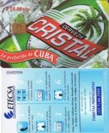 CUBA. BEER - CERVEZA - BIER. (CERVEZA CRISTAL) 3ª EDICION. (424) - Cuba