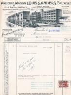 3848135LOUIS SANDERS, Pharmaceutiques, Facture Avec Timbre Fiscal 24-11-1950 - Belgique