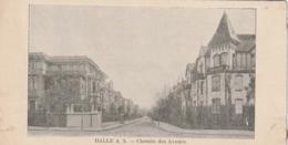 *** HALLE A.S. Chemin Des Avoués . ( Format Mignonnette 70x140) - Petit Papier Collé A Deux Angles TB Unused - Allemagne