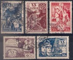 Russia 1938, Michel Nr 652-56, Used - 1923-1991 USSR
