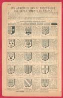 Les Armoiries Des 87 Chefs Lieux Des Départements De France. 1901. - Documents Historiques