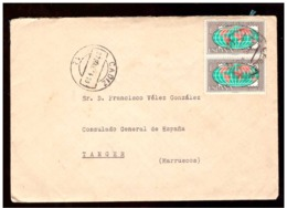 España. Sobre Sellado. Sello. Matasellos 1963. Cadiz. Tanger.  Publicidad. - 1931-Hoy: 2ª República - ... Juan Carlos I